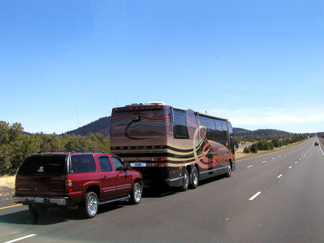 Towing a Car with a Motorhome