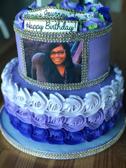 Custom Birthday Image Cake