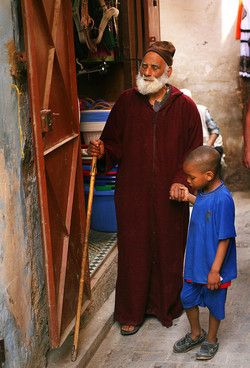 blind one led by his grandson