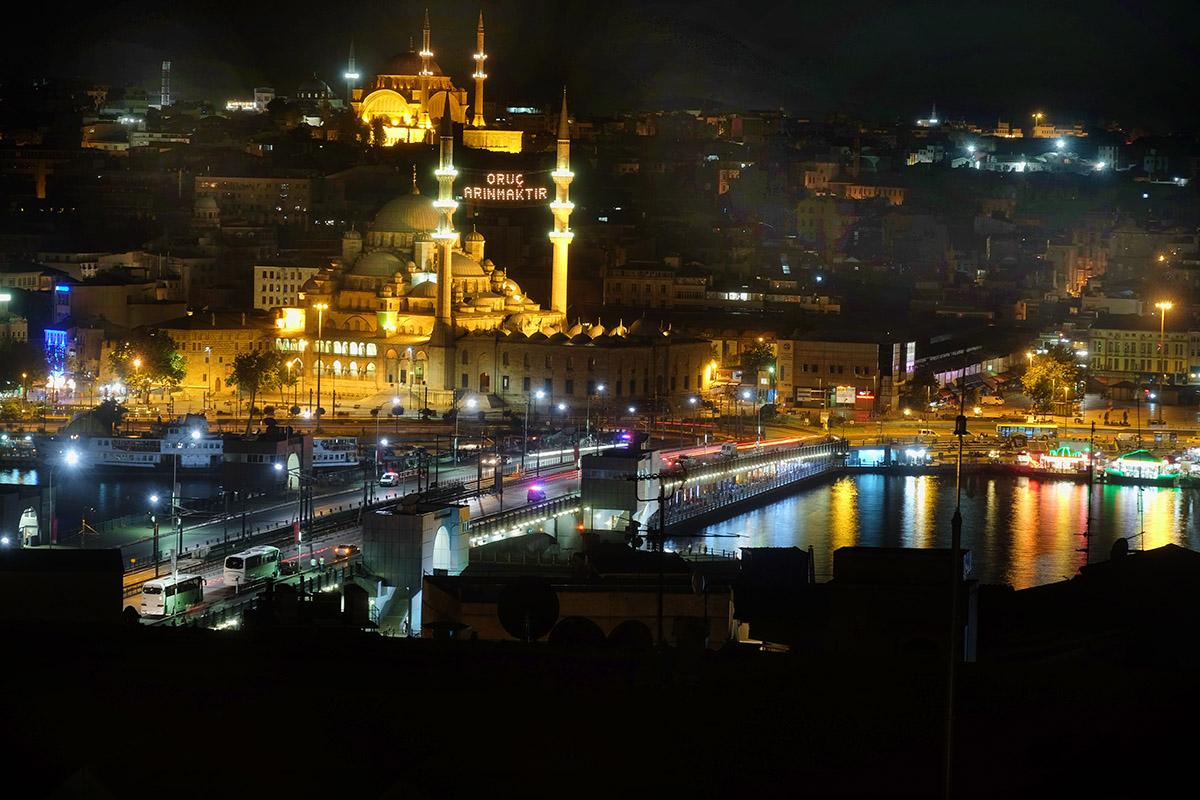 Galata bridge with Eminönü