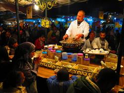 Marrakech, snails seller