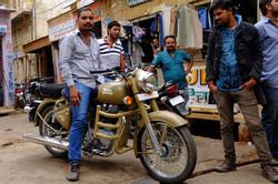 Jaisalmer, brand new royal enfield