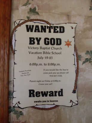 Wanted By God Flyer