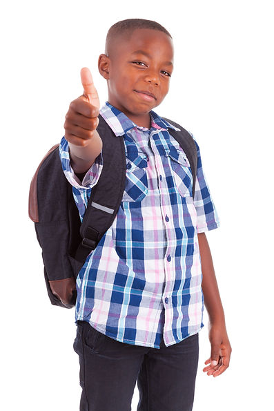 student giving a thumbs up