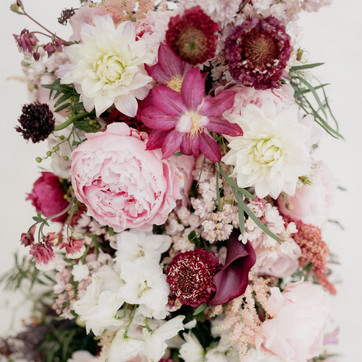 Close up of a cascading bouquet