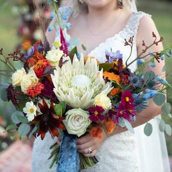 summer boho bridal bouquet