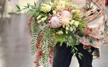 winter protea bouquet