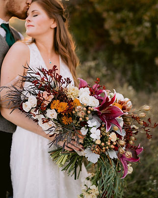 fall meadow wedding