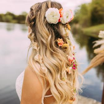 Boho hair flowers