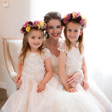 Flower girls for a Spring wedding