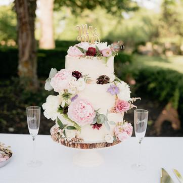 A pastel spring cake