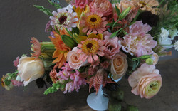 cheerful fall peach bouquet