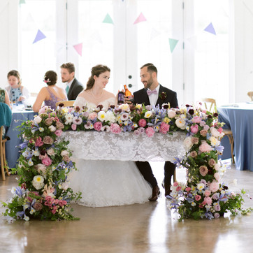 Head table for a spring wedding at Sparrow lane