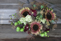 sunflowers and crab apples