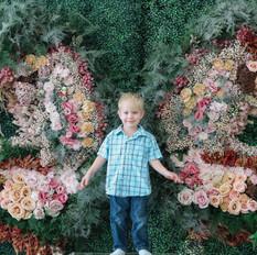 Josiah with butterfly wings