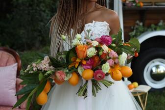 Citrus inspired bouquet