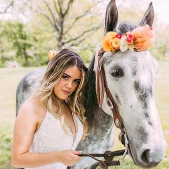 boho horse headpiece