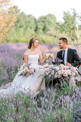 lavendar table setting