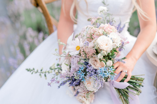 lavendar inspired bridal bouquet