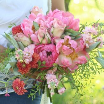 pink summer wedding