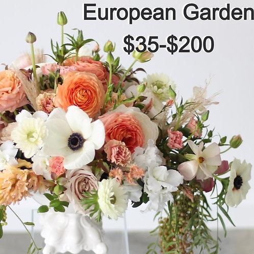 European Garden arrangment