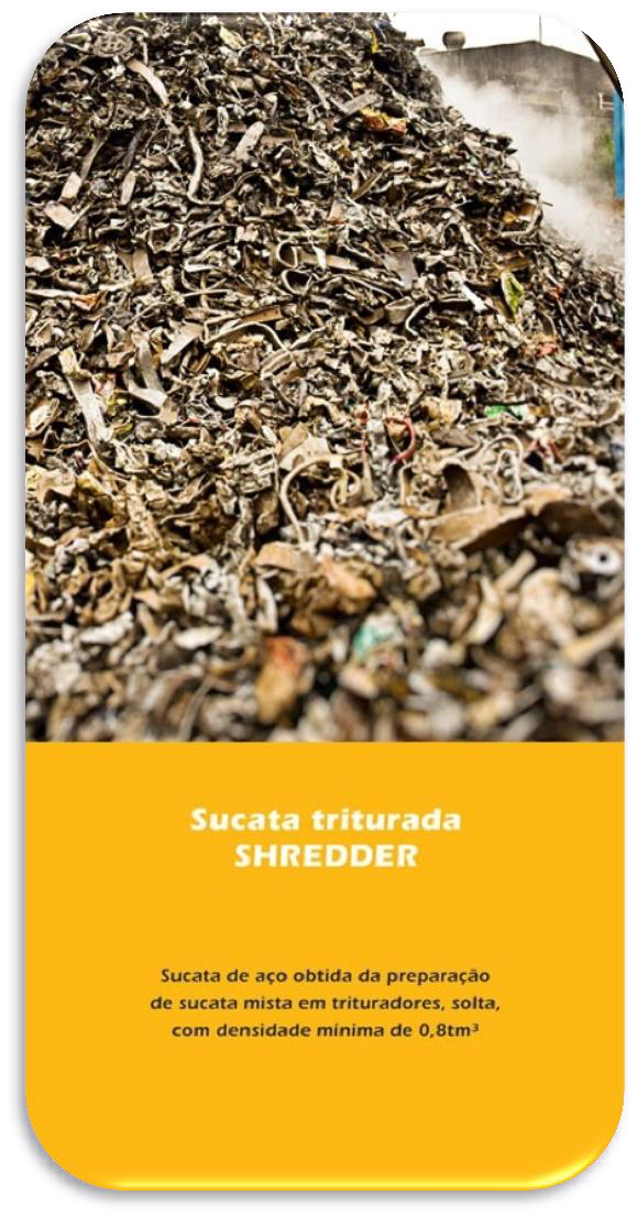 Sucata Triturada Shredder