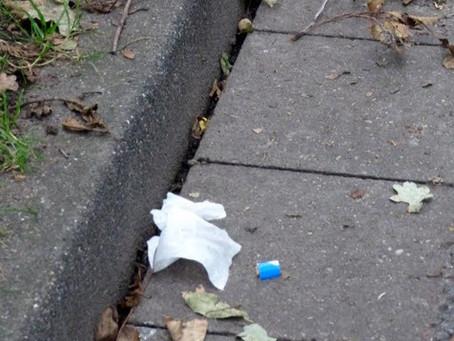 Papiertaschentuch - mein kleines Experiment.