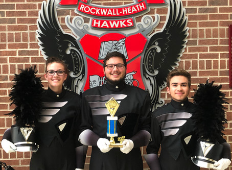 Division 1 and 5th overall at the Mesquite Marching Festival