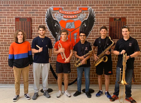 Six seats for All-Region Jazz is awarded to RHHS Jazz Band Members