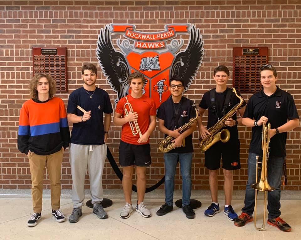 RHHS Jazz All Region Students