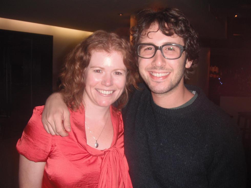 With the amazing Josh Groban!