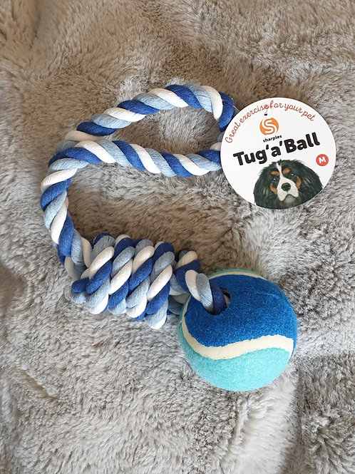 Tug 'a' ball rope toy