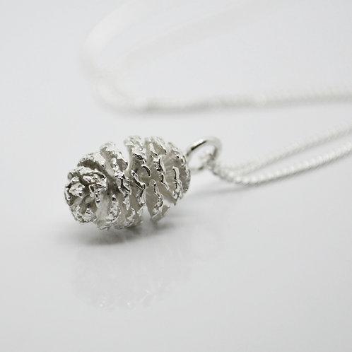 Silver Alder Cone Necklace