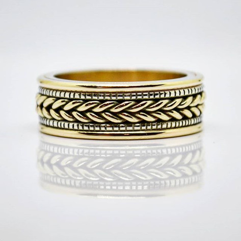 Woven Mens Wedding Band