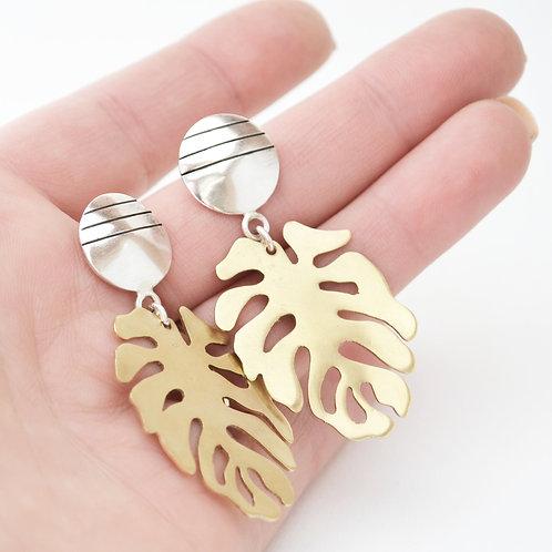 Monstera Tropical Earrings