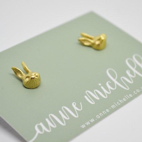 18ct Gold Vermeil Rabbit Stud Earrings
