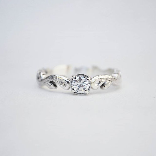 Silver Vintage Solitaire Ring