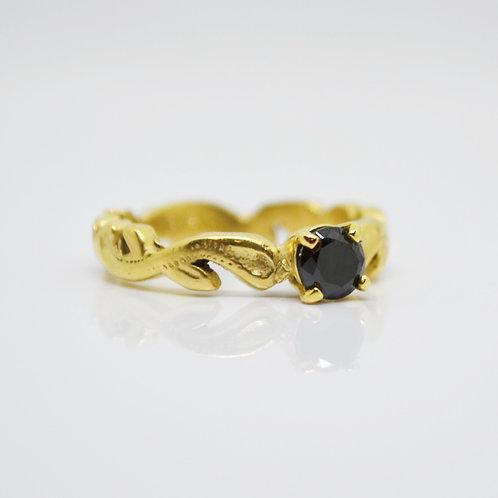 Gold Vermeil Onyx Ring