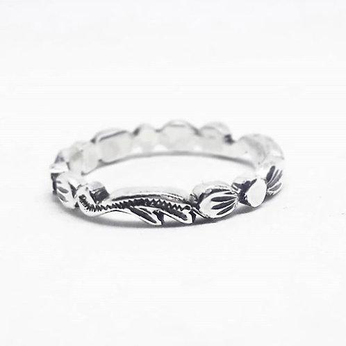 Vintage Floral Handcarved Ring