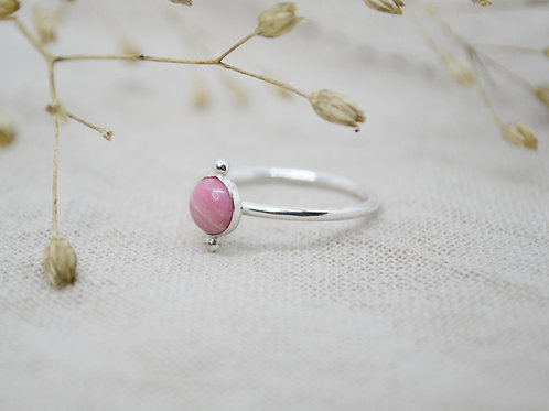 Double Pebble Gemstone Ring