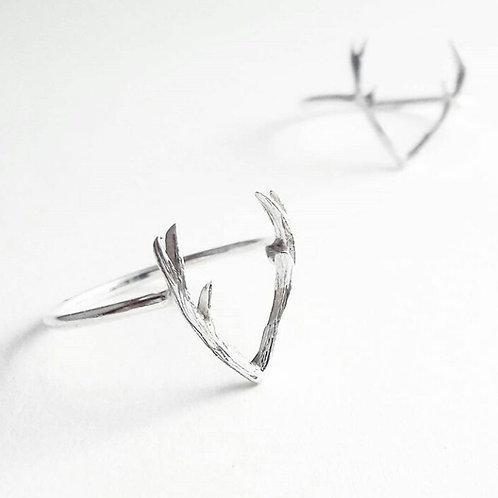 Silver Antler Ring