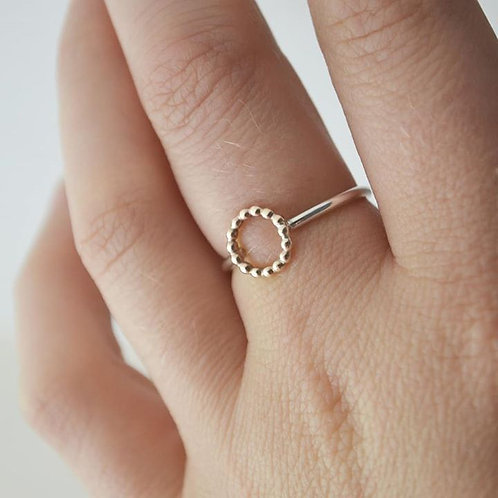Gold Halo Ring