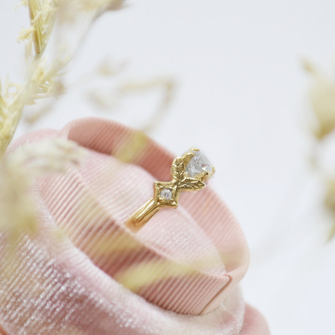 Vintage Style Gold and Diamond Engagement Ring