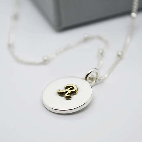 Gold Intial Necklace