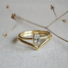 Gold Valley Engagement Set