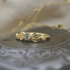 Bespoke Gold Flourish Ring