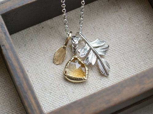 Wild Treasures Necklace - Citrine