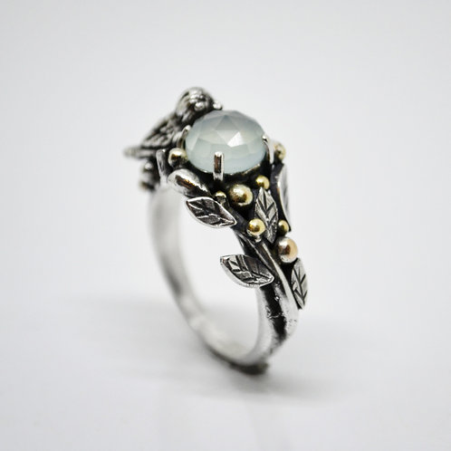 Chalcedony Bird Pond Ring