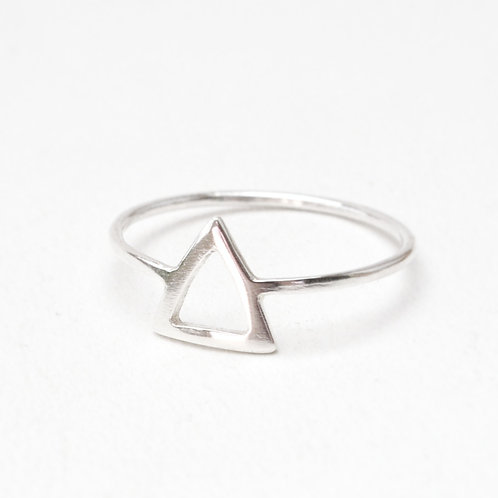 Hollow Triangle Ring