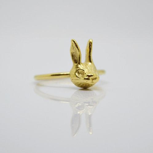 Gold Vermeil Rabbit Ring